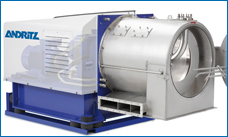 Krauss-Maffei Pusher Centrifuge SZ. Pusher Centrifuges ensure maximum online availability, minimum maintenance, and low space requirement in many solid/liquid separation processes.