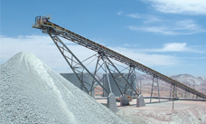 Raw materials conveyor at a mine site in Peru