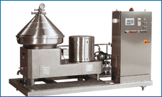 Separator C. Separators treat food and others products with high solids content, alternating partial and total discharges as required, while guaranteeing minimum product loss.
