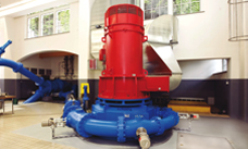 View of turbine generator arrangement