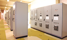 View of low-voltage switch gear