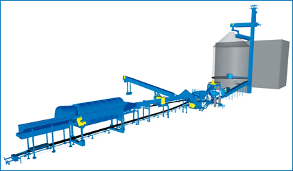Wood processing line
