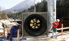 Installation of StrafloMatrix turbine generator unit