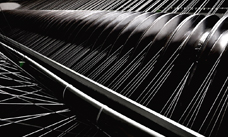 Weaving of ANDRITZ Kufferath AKU-TEC stainless steel wires
