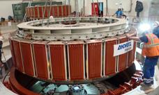 HPP Gnouang, Laos, ANDRITZ HYDRO Francis turbine installation