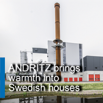 How ANDRITZ keeps the town of Mjölby warm in the winter – using renewable fuels from local forests.